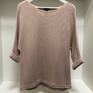H&M Tan Knit Sweater 3/4 Sleeve